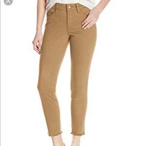 NWT NYDJ Camel Alina Crop Fray Hem Jeans